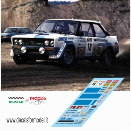 FIAT 131 ABARTH - GRONHOLM - RALLY 1000 LAGHI 1979