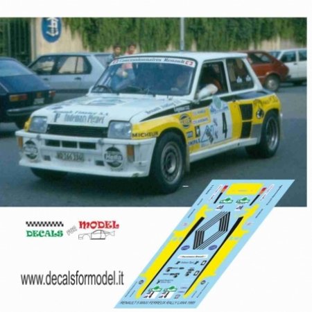 RENAULT 5 MAXI - FERREUX - RALLY LANA 1985
