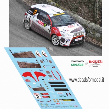 DECAL CITROEN DS3 R3T - BECT - RALLY MONTECARLO 2013