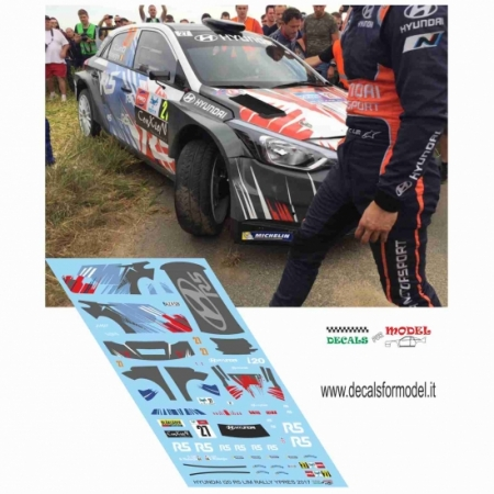 DECALS HYUNDAI I20 R5 - LIM - RALLY YPRES 2017