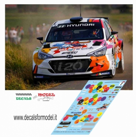 DECALS HYUDAI I20 R5 - NEUVILLE - RALLY YPRES 2017