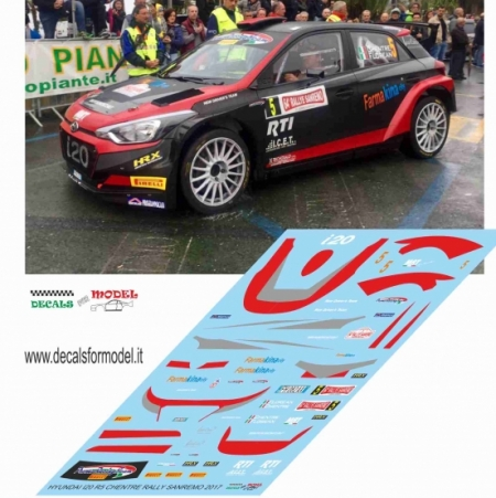 DECALS HYUNDAI I20 R5 - CHENTRE - RALLY SANREMO 2017