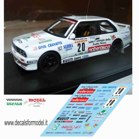 DECALS BMW M3 - NOBERASCO - RALLY LANA 1990
