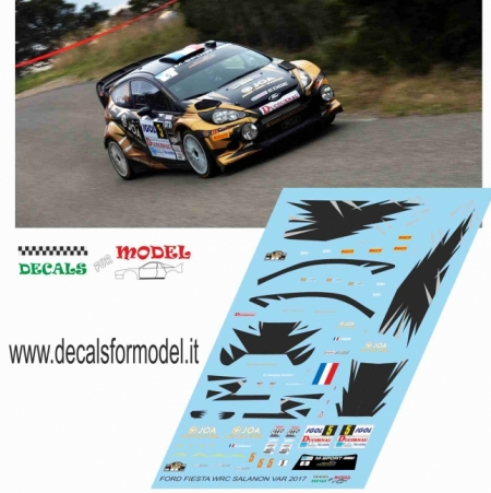 DECALS FORD FIESTA WRC - SALANON - RALLY DU VAR 2017