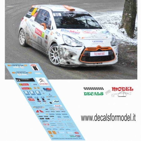 DECAL CITROEN DS3 R3T - MAURAGE - RALLY MONTECARLO 2013
