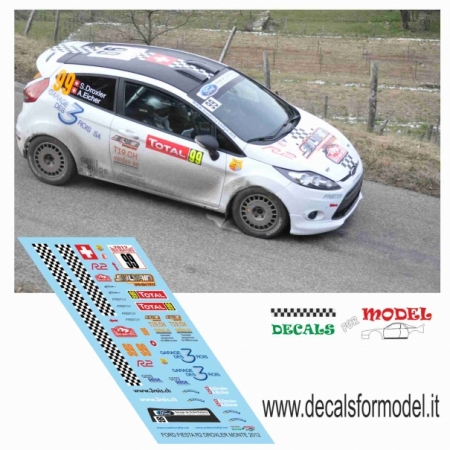 DECAL FORD FIESTA R2 - DOXLER - RALLY MONTECARLO 2013