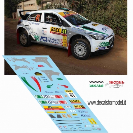 DECAL HYUNDAI I20 R5 - ANDOLFI - RALLY SPAGNA 2017