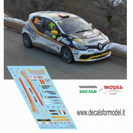 DECAL RENAULT CLIO R3T 4° SERIE - CIMA - RALLY MONTECARLO 2016