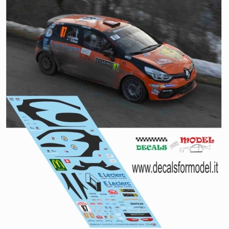 DECAL RENAULT CLIO R3T - COURTOIS - RALLY MONTECARLO 2016