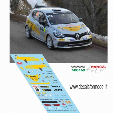 DECAL RENAULT CLIO R3T - FILIPPI - RALLY MONTECARLO 2016