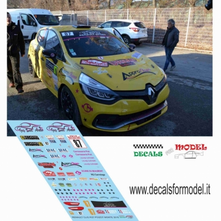 DECAL RENAULT CLIO R3T - POIZOT - RALLY MONTECARLO 2018