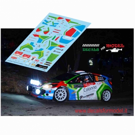 DECAL FORD FIESTA WRC - VILLA - RALLY MONTECARLO 2018