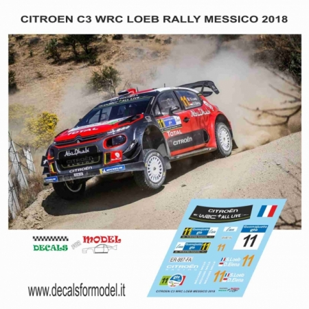 DECAL CITROEN C3 WRC - LOEB - RALLY MESSICO 2018