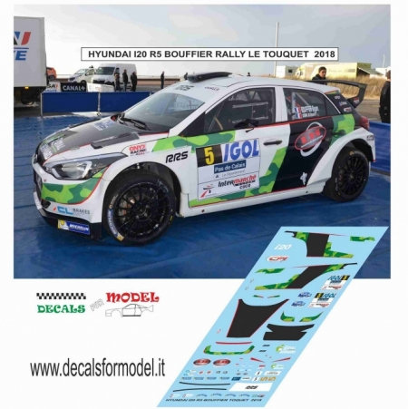 DECAL HYUNDAI I20 R5 - BOUFFIER - RALLY LE TOUQUET 2018