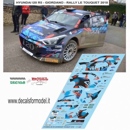 DECAL HYUNDAI I20 R5 - GIORDANO - RALLY LE TOUQUET 2018