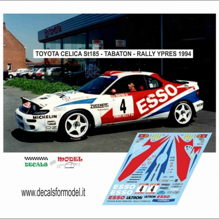DECAL TOYOTA CELICA ST 185 - TABATON - RALLY YPRES 1994