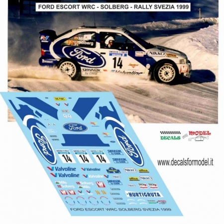 DECAL FORD ESCORT WRC - SOLBERG - RALLY SVEZIA 1999