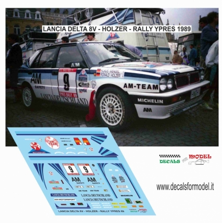 DECAL LANCIA DELTA 8V - HOLZER - RALLY YPRES 1989