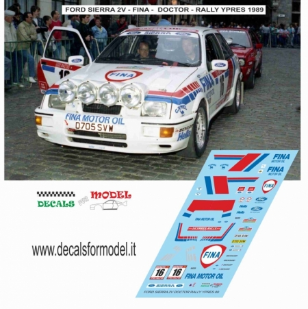 DECAL FORD SIERRA 2V - DOCTOR - RALLY YPRES 1989