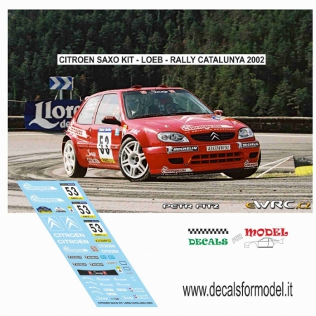 DECAL CITROEN SAXO KIT - LOEB - RALLY CATALUNYA 2001