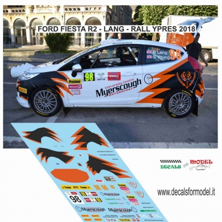 DECAL FORD FIESTA R2 - LANG - RALLY YPRES 2018
