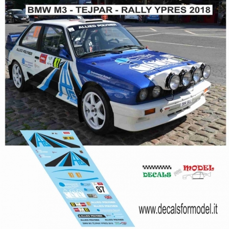 DECAL BMW M3 - TEJPAR - RALLY YPRES 2018