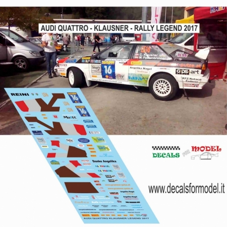 DECAL AUDI quattro - KLAUSNER - RALLY LEGEND 2017