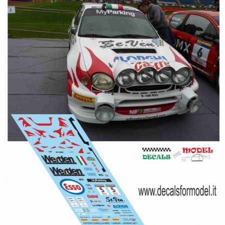 DECAL TOYOTA COROLLA WRC - LONGHI - RALLY LEGEND 2017