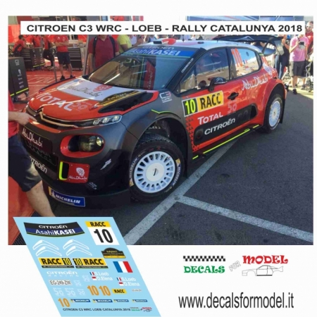 DECAL AGGIUNTIVO  CITROEN C3 WRC - LOEB - RALLY CATALUNYA 2018