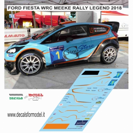 DECAL FORD FIESTA WRC - MEEKE - RALLY LEGEND 2018