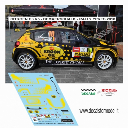 DECAL CITROEN C3 R5 - DEMAERCHALK - RALLY YPRES 2018