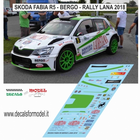 DECAL SKODA FABIA R5 - BERGO - RALLY LANA 2018
