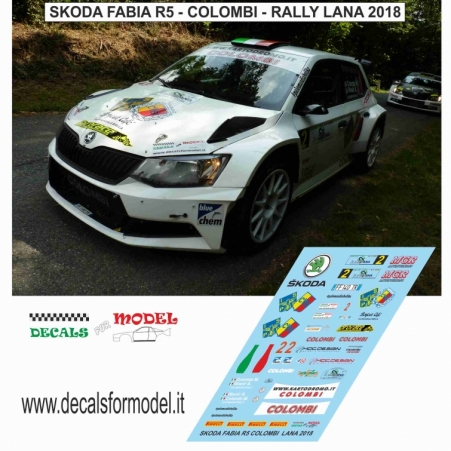 DECAL SKODA FABIA R5 - COLOMBI - RALLY LANA 2018