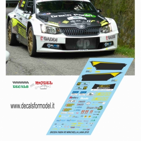 DECAL SKODA FABIA R5 - MINCHELLA - RALLY LANA 2018