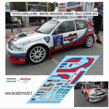 DECAL TOYOTA COROLLA WRC - GERBER - RALLY LEGEND 2018