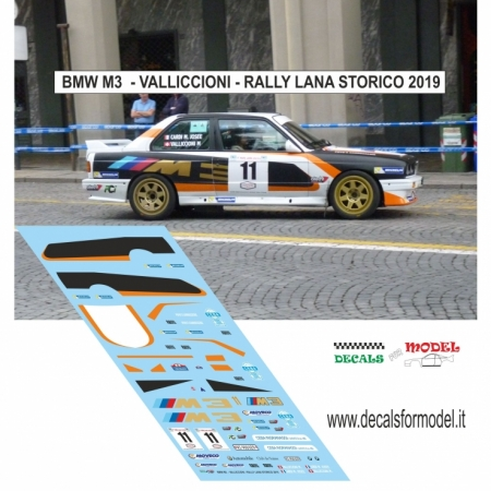 DECAL BMW M3 - VALLICCIONI - RALLY LANA STORICO 2019