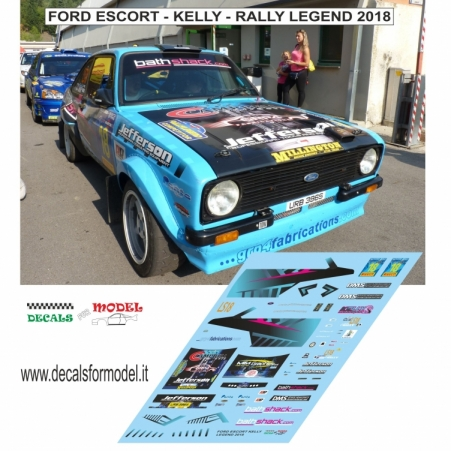 DECAL FORD ESCORT MK - KELLY - RALLY LEGEND 2018