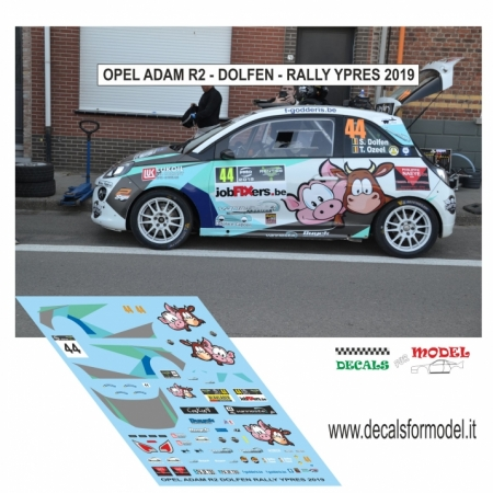 DECAL OPEL ADAM R2 - DOLFEN - RALLY YPRES 2019