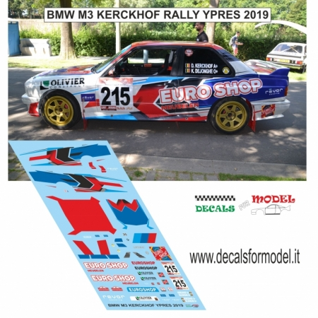 DECAL BMW M3 - KERCKHOF - RALLY YPRES 2019