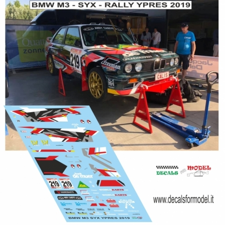 DECAL 1:24 BMW M3 - SYX - RALLY YPRES 2019