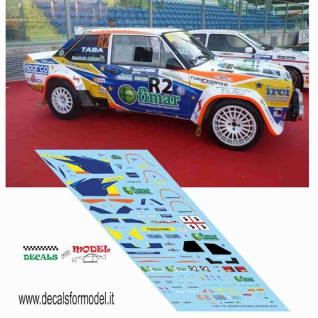 DECAL 1:18 FIAT 131 ABARTH - DIANA - RALLY LEGEND 2016