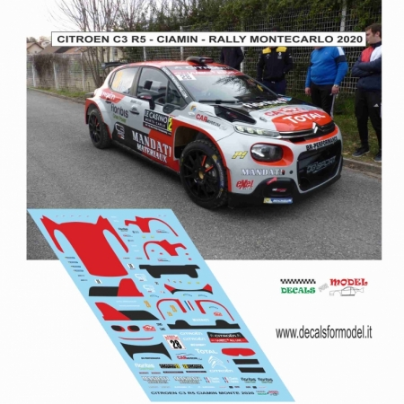 DECAL CITROEN C3 R5 - CIAMIN - RALLY MONTECARLO 2020