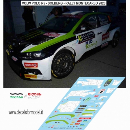 DECAL VOLKSWAGEN POLO R5 - SOLBERG - RALLY MONTECARLO 2020
