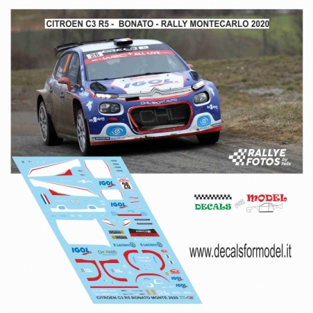 DECAL CITROEN C3 R5 - BONATO - RALLY MONTECARLO 2020