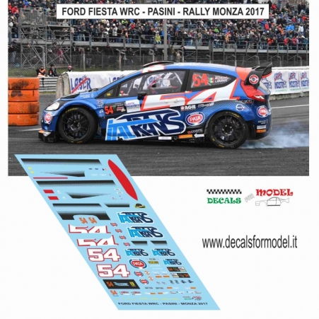 DECAL FORD FIESTA WRC - PASINI - RALLY MONZA 2017