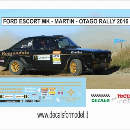 DECAL FORD ESCORT RS MK - MARTIN - OTAGO RALLY 2016