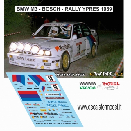 DECAL BMW M3 - BOSH - RALLY YPRES 1989