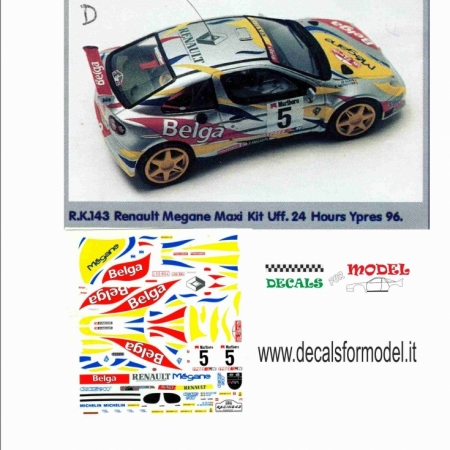 DECAL RENAULT MEGANE MAXI - MUNSTER - RALLY YPRES 1996