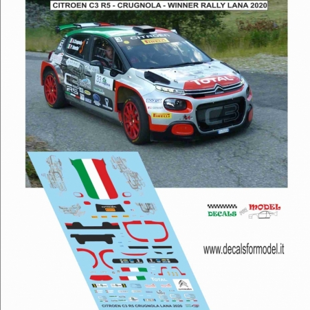 DECAL CITROEN C3 R5 - CRUGNOLA - RALLY LANA 2020 WINNER