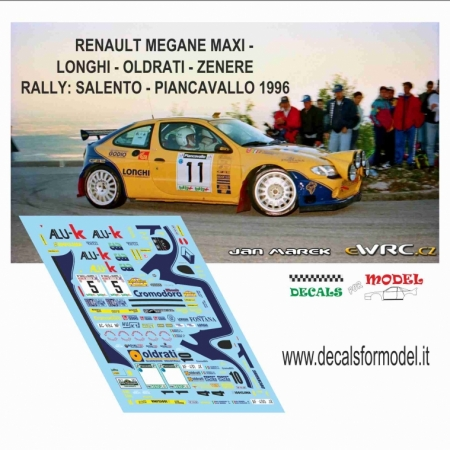 DECAL RENAULT MEGANE MAXI - LONGHI - RALLY SALENTO 1996